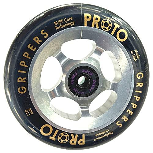 Proto Plasma - Patinete de acrobacias (110 mm, incluye pegatina Fantic26), color plateado