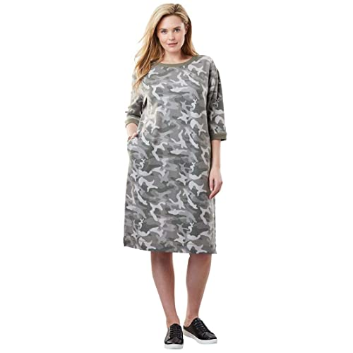 06ca3864a72ea Woman Within Plus Size Fleece Sweatshirt Dress