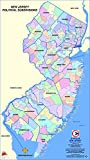 Home Comforts Large map of New Jersey State Political subdivisions-20 Inch by 30 Inch Laminated Poster with Bright Colors and Vivid Imagery-Fits Perfectly in Many Attractive Frames