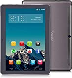 Tablet Touchscreen 10 Zoll (25,4 cm) 4G LTE-TOSCIDO Android 10.0,4 GB RAM, 64 GB ROM, Octa Core, Doule Sim, WiFi, Dual Lautsprecher Stereo – Grau