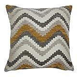 McAlister Textiles Navajo | Sofakissen mit Füllung in Gelb & Grau | 50 x 30cm | Gewobenes...