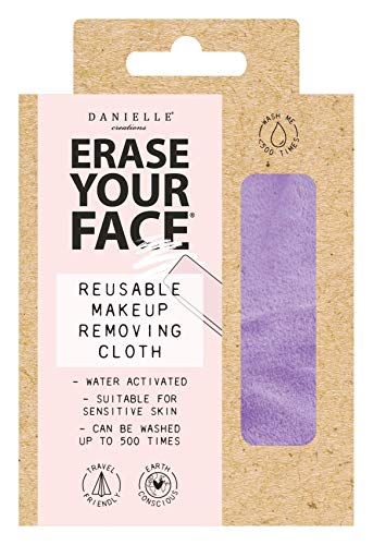 Danielle Creations - Panno per rimuovere il viso, ecologico, riutilizzabile, colore: viola