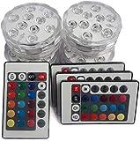 10 LED sumergible RGB Base luminosa impermeable para jarrón