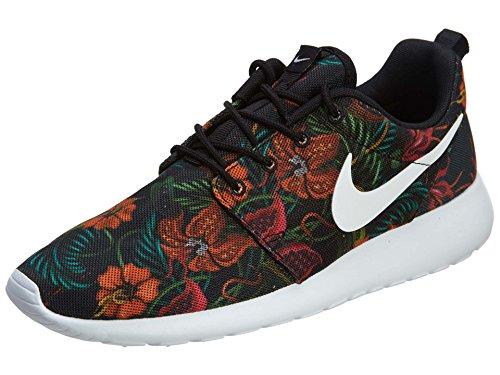 Nike Rosherun Print Jungle Flower Floral Total Orange White Black US 13