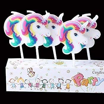 Party Propz Unicorn Theme Candles for Birthdays - Set of 5 for Unicorn Birthday Decoration