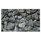 PHILSP Fondo para acuarios de roca, piedras grises, terrario rocoso duradero, decoración de pared, para pecera S