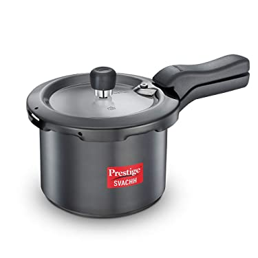 Prestige Svachh 3 Litre Pressure Cooker with Hard Anodized Body (Black)