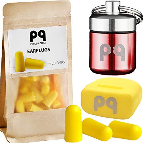 PQ Soft Foam Earplugs for Sleep - Ear Plugs for Sleeping Small Ear Canals - Small Earplugs for Women and Men & Earplugs for Sound Blocking Sleeping 32 dB - Ear Plugs for Sleeping Noise Cancelling