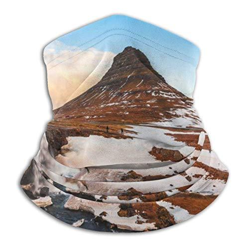 Lsjuee Montaña famosa con cascadas en Islandia Unisex Bandanas Bufanda Diadema Pasamontañas A prueba de viento A prueba de polvo Sombreros Polainas de cuello Motocicleta Senderismo Ciclismo Esquí Sn
