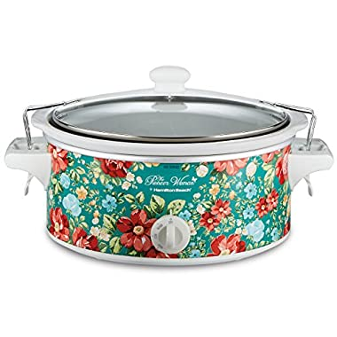 The Pioneer Woman Slow Cooker 6 Quart Portable Crock Pot Flea Market (6 Quart Pattern Vintage Floral)