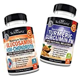 Glucosamine Chondroitin MSM + Turmeric Curcumin PM - Supports Healthy Inflammatory Response - Supports Joint Comfort & Flexibility