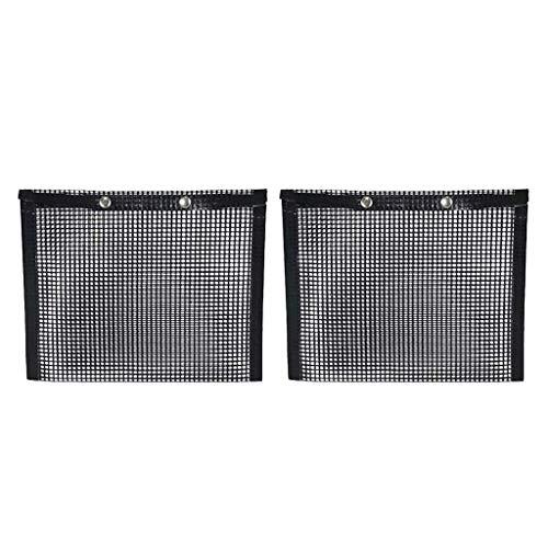 Inzopo 2 Stück Antihaft-Netz-Grilltasche, BBQ Grill Mesh Tasche, Mesh Grilltasche, Antihaft Mesh Grilltasche für BBQ, Outdoor Kochen Werkzeug - 27 x 22 cm