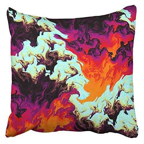 AEMAPE Fundas de cojín Colorido Trippy Abstracto Loco Psicodélico como Niza Naranja Hermoso Color Bizarro Demente Desquiciado Funda de cojín de 40x40 cm