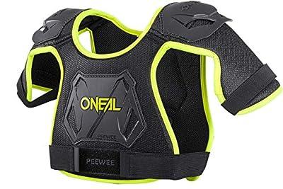 O'NEAL Peewee Chest Guard Kinder Brust/Schulterprotektor schwarz/gelb Oneal
