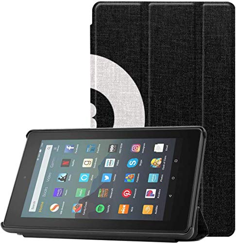 Funda para Tableta Fire Billar en la Mesa de Fieltro Rojo Funda para Tableta Fire para Tableta Fire 7 (novena generación, versión 2019) Ligera con Reposo/Despertar automático