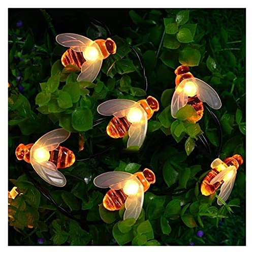 Solar String Lights Garden Indoor Outdoor 20 LEDs Little Bee Solar Powered Waterproof Fairy String Lights for Patio Yard Summer Party Outdoor Garden Wedding Festival Decor (Color : 20LED/5M)