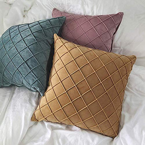 Fulinmen Soft Pillow Cover Cushion Thick Lattice Pillowcase Home Office Sofa Decoration,Perfect Best Gift for New Year Christmas,Valentine Golden Yellow (Size : Golden Yellow)