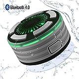 Enceinte Bluetooth Étanche, Alitoo Haut-Parleur de Douche sans Fil Imperméable IPX7...