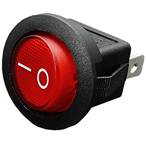 LQNB 12V 16A LED Interruptor basculante Bipolar ON/Off SPST para Auto Moto Barco - Rojo