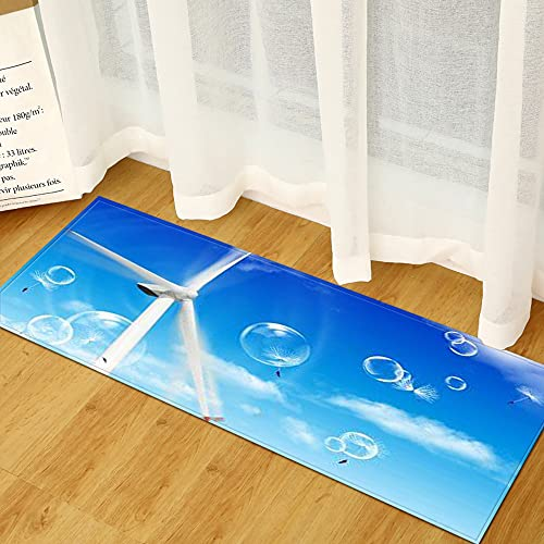 OPLJ Alfombra de Puerta de Entrada de casa con patrón de Paisaje de impresión 3D, Alfombra de Piso Antideslizante de balcón de Pasillo,...