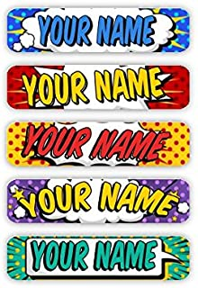 Personalized Laundry Safe Iron-on Clothing Labels (Popart Theme)