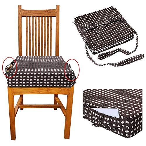 Rameng Coussin de Chaise Haute R/éhausseur Hibou Imprim/é Booster Bebe Portable pour Repas Orange