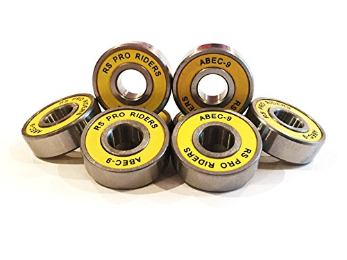 RS PRO RIDERS 8x Amarillo ABEC 9608(8x 22x 7mm) rodamientos para monopatín Skate Scooter