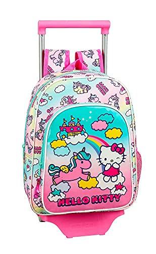 Hello Kitty Candy Unicorns Mochila pequeña Ruedas, Carro, Trolley