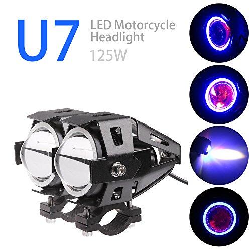 TiooDre 2PCS U7 CREE Auto Moto del faro del LED CREE U7 LED della nebbia della lampada frontale della luce del punto DRL Spotlight Luci diu
