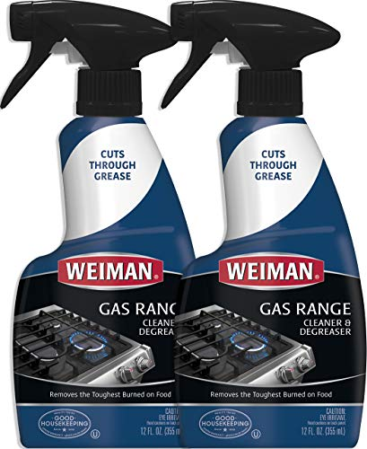 Weiman Gas Range Cook Top Cleaner and Degreaser - 12 Ounce 2 Pack -...