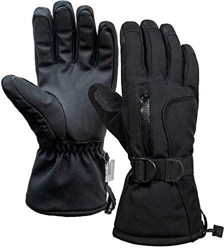 Global Park Schi Handschuhe Winter Herren Damen Motorrad Skihandschuh Touchscreen Wasserdicht Warme Kaltes Wetter Thermal rutschfest Atmungsaktiv Winddicht für Frauen Draußen Sport Frauen Schi (XL)