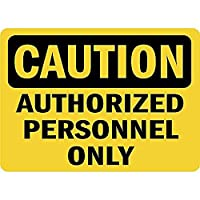 注意許可された人員のみ 金属板ブリキ看板警告サイン注意サイン表示パネル情報サイン金属安全サイン