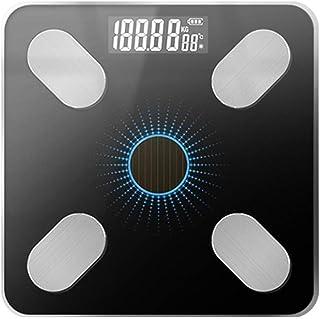 Báscula de Peso Profesional Electrónica LCD Bluetooth Báscula Humana Baño Báscula Antideslizante Báscula de Equilibrio de Peso doméstico Durable (Color: Rosa B)