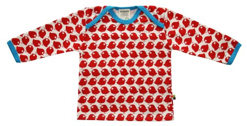 Loud + Proud Unisex - Baby Sweatshirt 205, Gr. 98/104, Rot (tomato)