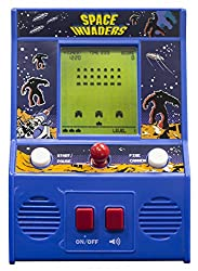 RETRO GAME PLAY - Space Invaders smash-hit arcade game is back! Return to the fun and nostalgia of the 80's with exact replica mini arcade games! Joy stick control, laser shooter and waves of aliens make the game play as exciting as the original! RET...
