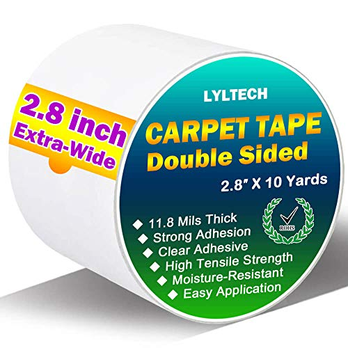 $3.37 Double Sided Carpet Tape for Area Rugs Use promo code: 50W2WL9W  There is a quantity limit of 3