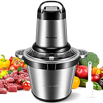 Narcissus Electric Meat Grinder 500W & 3.5L 14-Cup Large Food Processor Chopper for Quick Chopping & Mixing Meat Vegetables 4 Sharp Blades & 3 Rotating Speeds with a Scraper [2021 Latest Version]