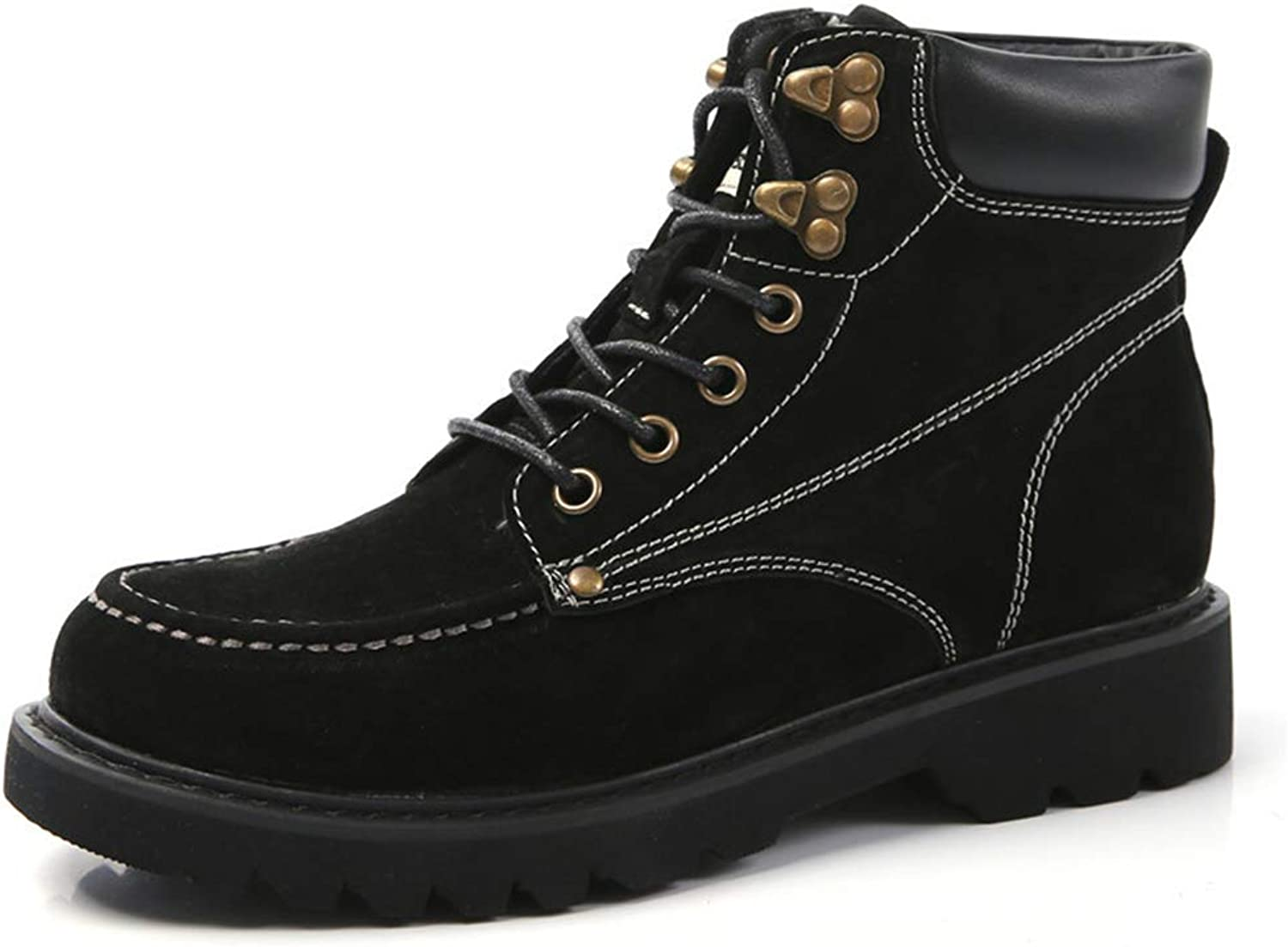 BeautyOriginal Womens Fashion Ankle High Lace Up Combat Military Boots with Winter