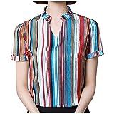 Camisa de mujer de manga corta camisa camisa camisa camisa c