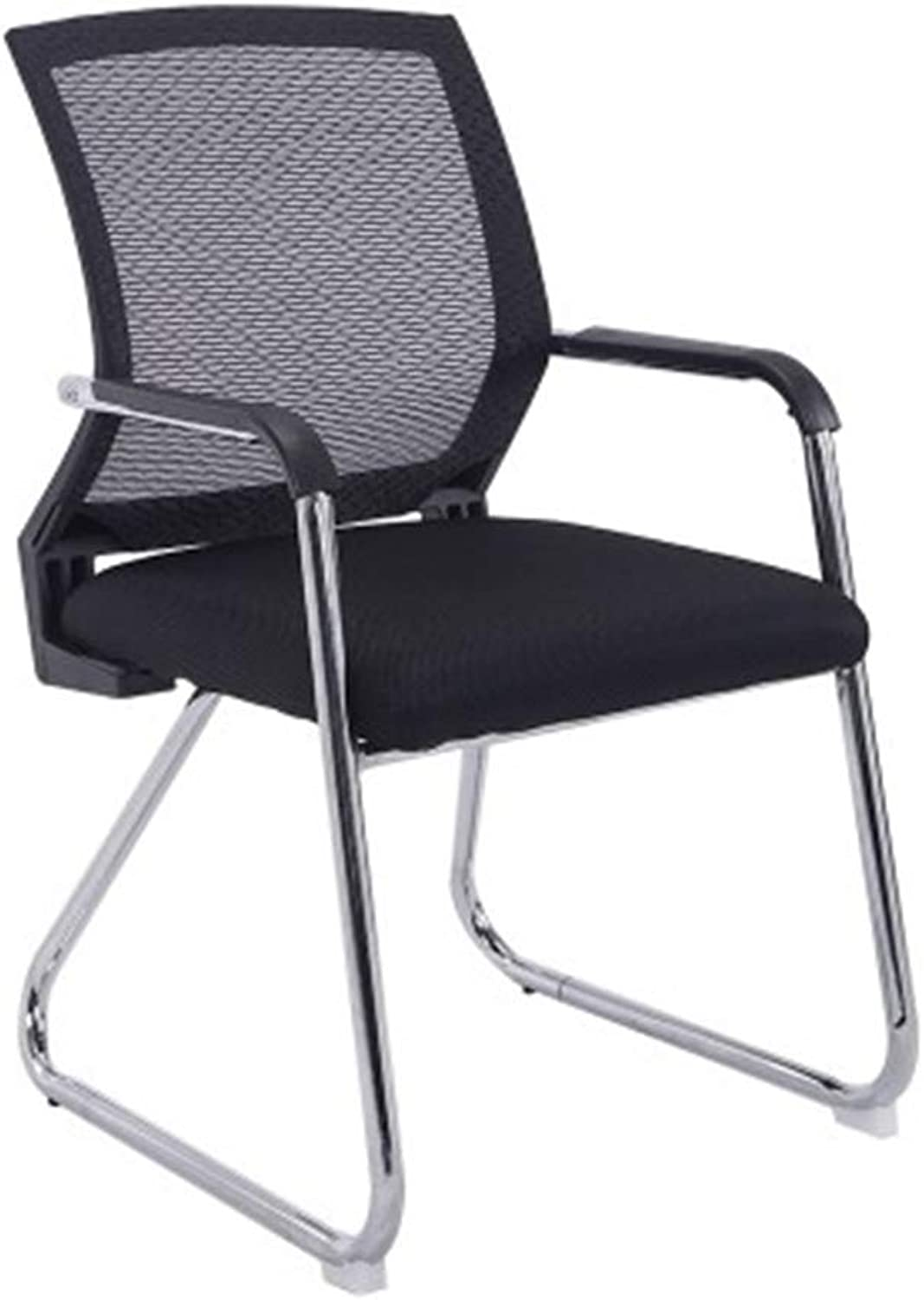 Study Chair, Comfortable Breathable Chair Wear Resistant Easy to Clean Chair Bedroom Study Chair Office Meeting Room Chair (color   Black)