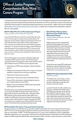 Office of Justice Programs: Comprehensive Body-Worn Camera Program (English Edition)