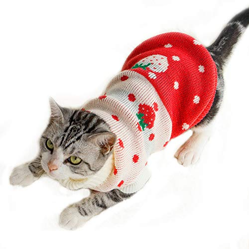 YOUDirect Cats Knit Turtleneck Sweater Pullover Kitten Sweater for Small Cats Dogs Kitty Chihuahua Teddy Poodle Pug (XS) Review