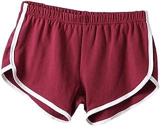 ab587a80c8 ILOVEDIY Mini Shorts de Sport Plage Volleyball en Coton pour Les Filles et  Femmes