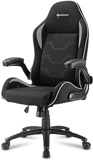 Sharkoon Elbrus 1 Gaming Chair/ Seat, Durable upto 120 Kgs - Black/ Grey