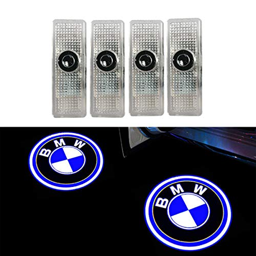 Coolsport 4 Pcs Double Interface Design Car Door LED Logo Projector Welcome Lights Ghost Shadow Lights Compatible With BMW Accessories