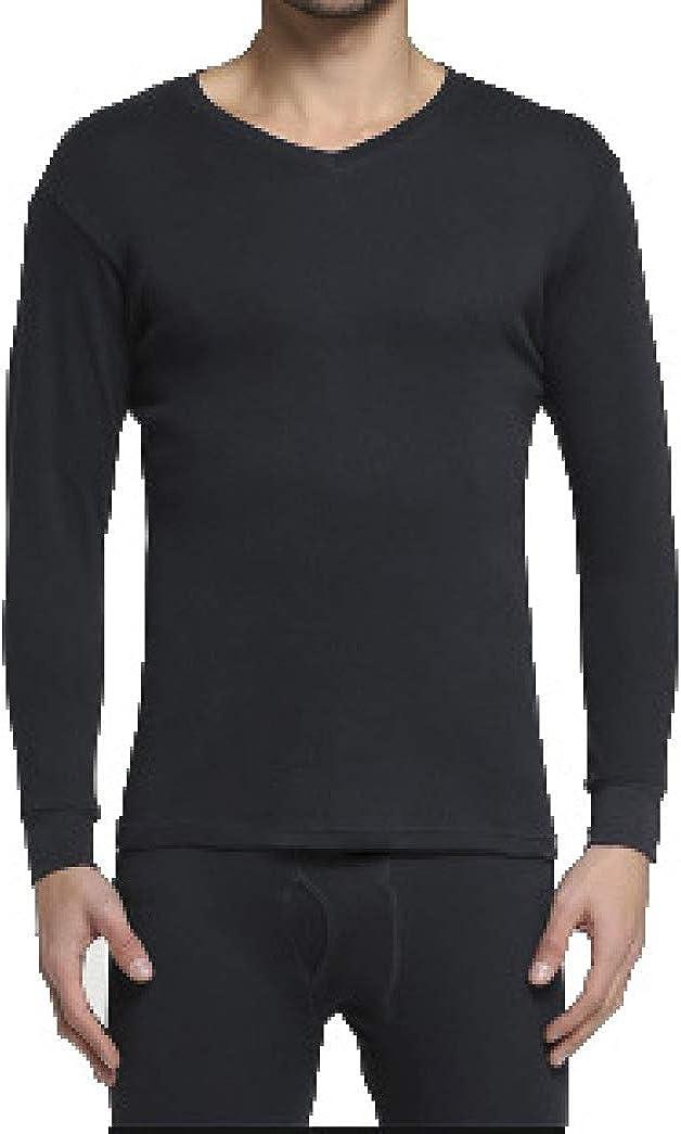 Mens Thermal Underwear Set Ultra Soft Long John Set Winter Base Layer Top and Bottom
