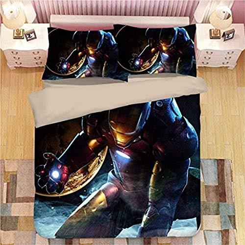 XWXBB Juego de sábanas Iron Man 100%...