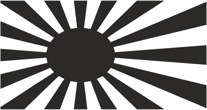 Japan War Flag Flag Shocker Hand Car Sticker Tuning Oem Dub Decal Sticker Bomb Bombing Fun W Black Black Black Black Auto