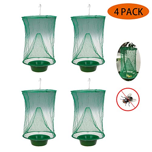 Fly Trap, meest effectieve Ranch Fly Catcher, niet-giftig Folding Fly Trap Hanging Catcher Cage Net Fly Wasp Killer