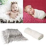 Tabpole Manta para fotografía de bebé recién nacido, manta de fotos y accesorios para telón de fondo de piel, alfombra para manualidades recién nacidos